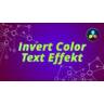 Invert Text Effect Davinci Resolve