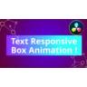 Text Responsive Boxanimation